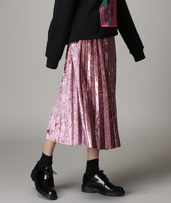 [WOMEN] Falcon pleats skirt