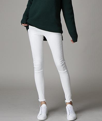 [WOMEN] Cutting cotton skinny pants