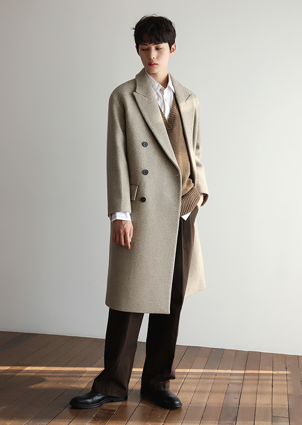 Oatmeal Beige double Coat <BR/> Second stock