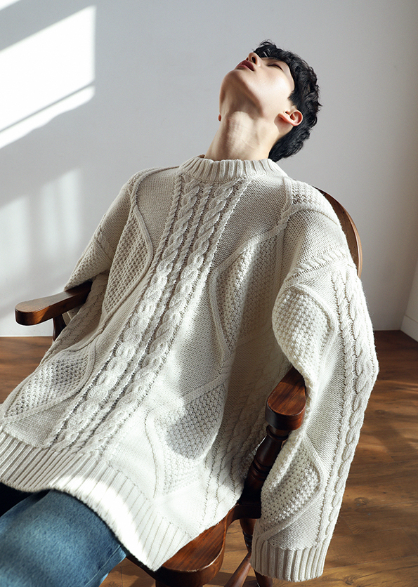 Oversize Cable Heavy Knit <BR/> Second stock